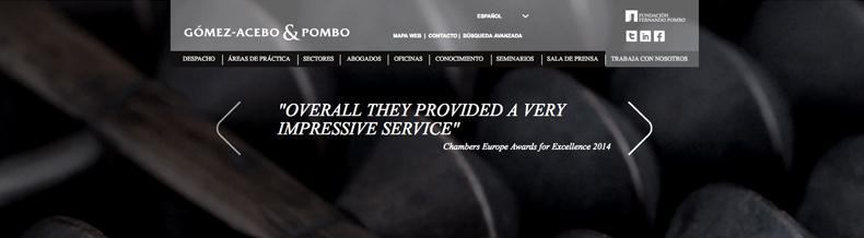 ¿Navegáis con nosotros por Gómez-Acebo&Pombo? La nueva Web del despacho ya está on line