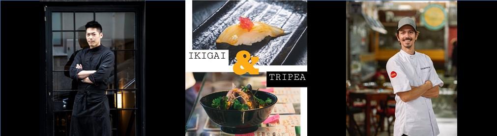 IKIGAI SESSIONS · I EDICIÓN · YONG WU NAGAHIRA (IKIGAI) COCINA JUNTO A ROBERTO MARTÍNEZ (TRIPEA) UN MENÚ ESPECIAL DONDE JAPÓN & PERÚ SE UNEN EN  LA PRIMERA EDICIÓN DE LAS #IKIGAISESSIONS