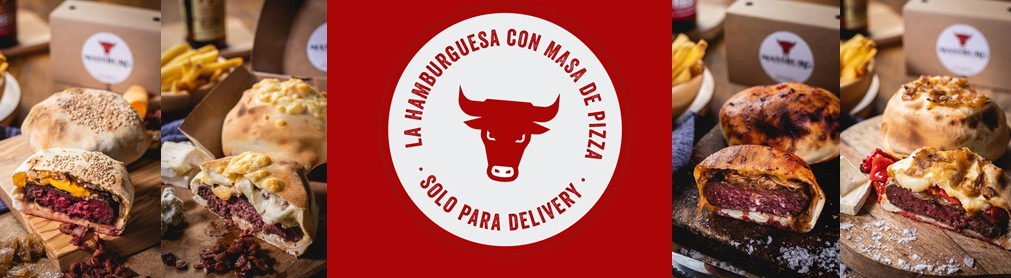 LLEGA MASSBURG, LA HAMBURGUESA CON MASA DE PIZZA SOLO PARA DELIVERY Y TAKE AWAY